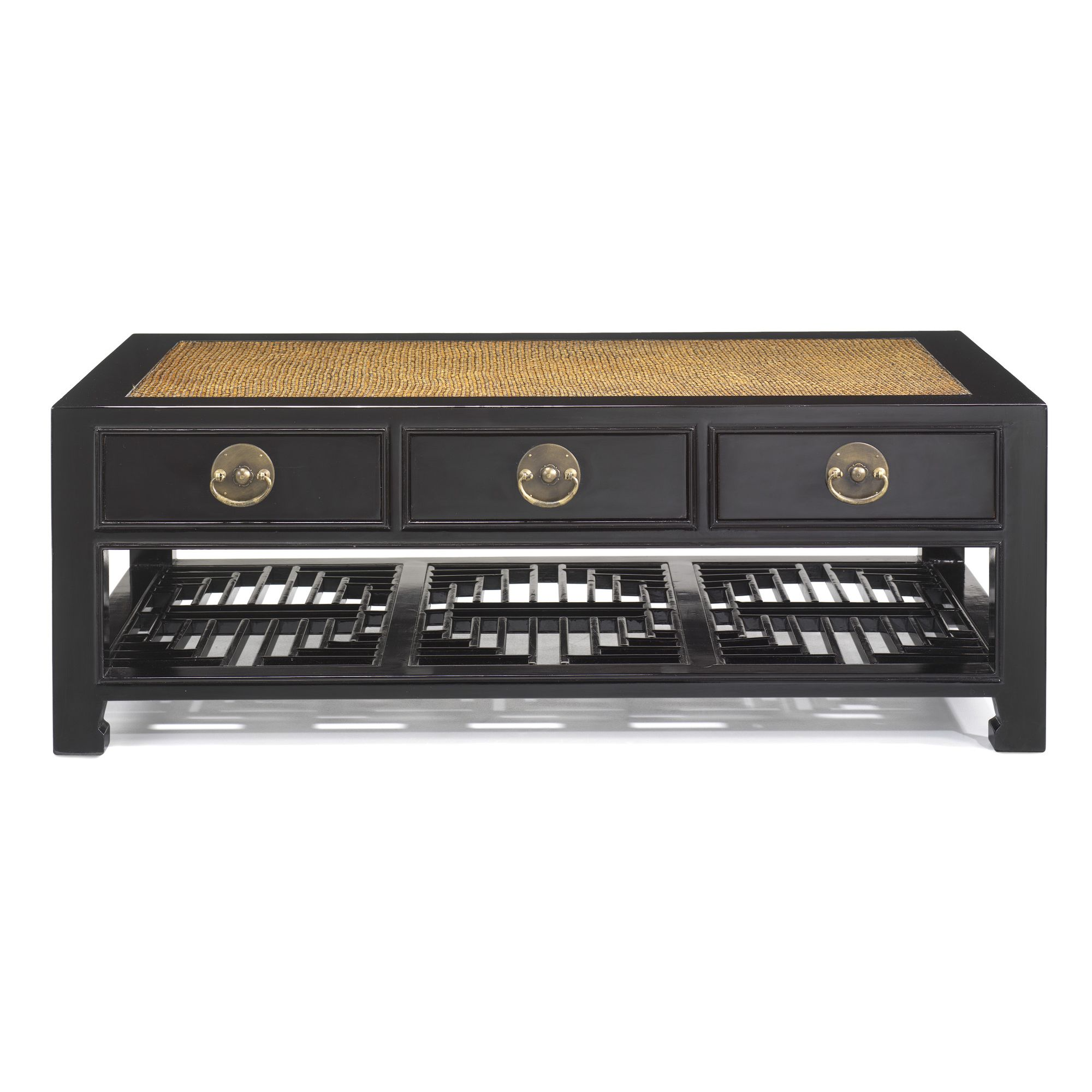 Shimu Chinese Classical Carved Coffee Table - Black Lacquer at Tesco Direct