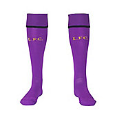 2014-15 Liverpool Home Goalkeeper Socks (Purple) - Kids - Purple