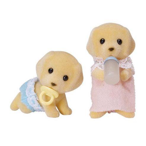 Sylvanian Family Golden Labrador Twins