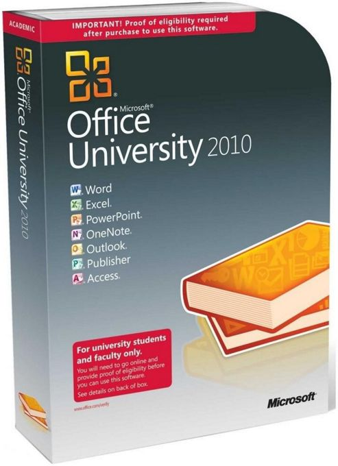 MICROSOFT - DESKTOP APPLICATIONS - EDU OFFICE UNIVERSITY 2010 - W/ SP1 32-BIT/X64 DVD EN