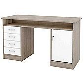 Tvilum Function 42011 Oak and White Desk