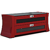 Gecko Sapphire LCD and Plasma TV Cabinet - Gloss Red