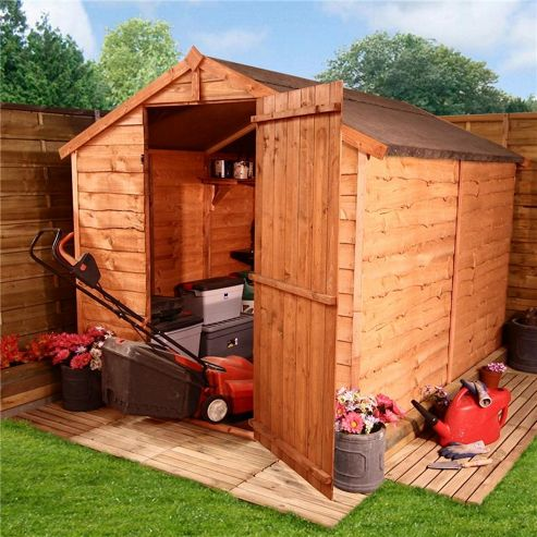 BillyOh 20 8 x 6 Windowless Rustic Overlap Apex Shed