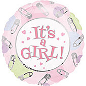 18' Dots and Pins - Its A Girl Foil (each)