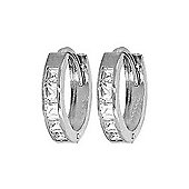 QP Jewellers 1.60ct Cubic Zirconia Hoop Earrings in Sterling Silver
