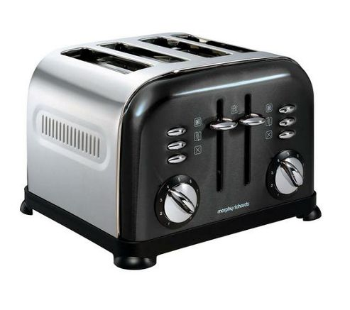 Morphy Richards 4 Slice Toaster Metallic