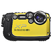 "Fuji XP200 Digital Camera, Yellow, 16MP, 5x Optical Zoom, Waterproof, 3"" LCD Screen, Wi-Fi"