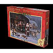 Falcon De Luxe Packing Santa's Sleigh 1000 Piece Jigsaw Puzzle - Jumbo