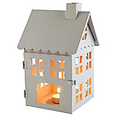 Metal House Lantern White
