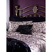 Biba Leopard Rose Print Super King Duvet Cover In Beige