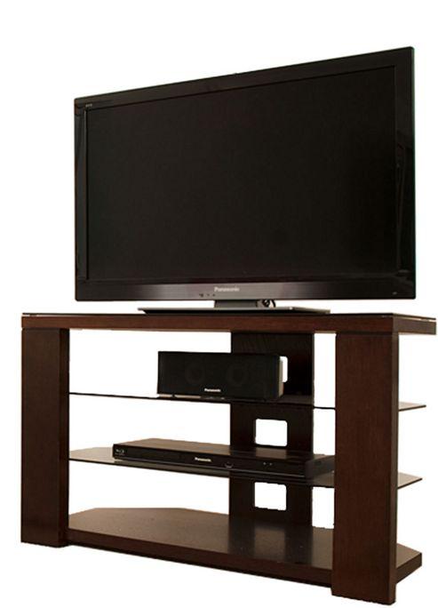 Optimum Edge 800 Chocolate Oak Open TV Stand