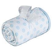 Tesco Loves Baby Spot/Stripe Blanket Blue
