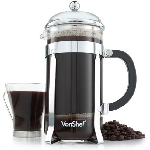 buy vonshef 12 cup 1 5 litre french press cafetiere from our cafetieres range tesco. Black Bedroom Furniture Sets. Home Design Ideas