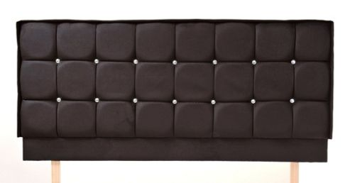 Humza Amani Crystal X Upholstered Headboard - Double 4FT6 - Black