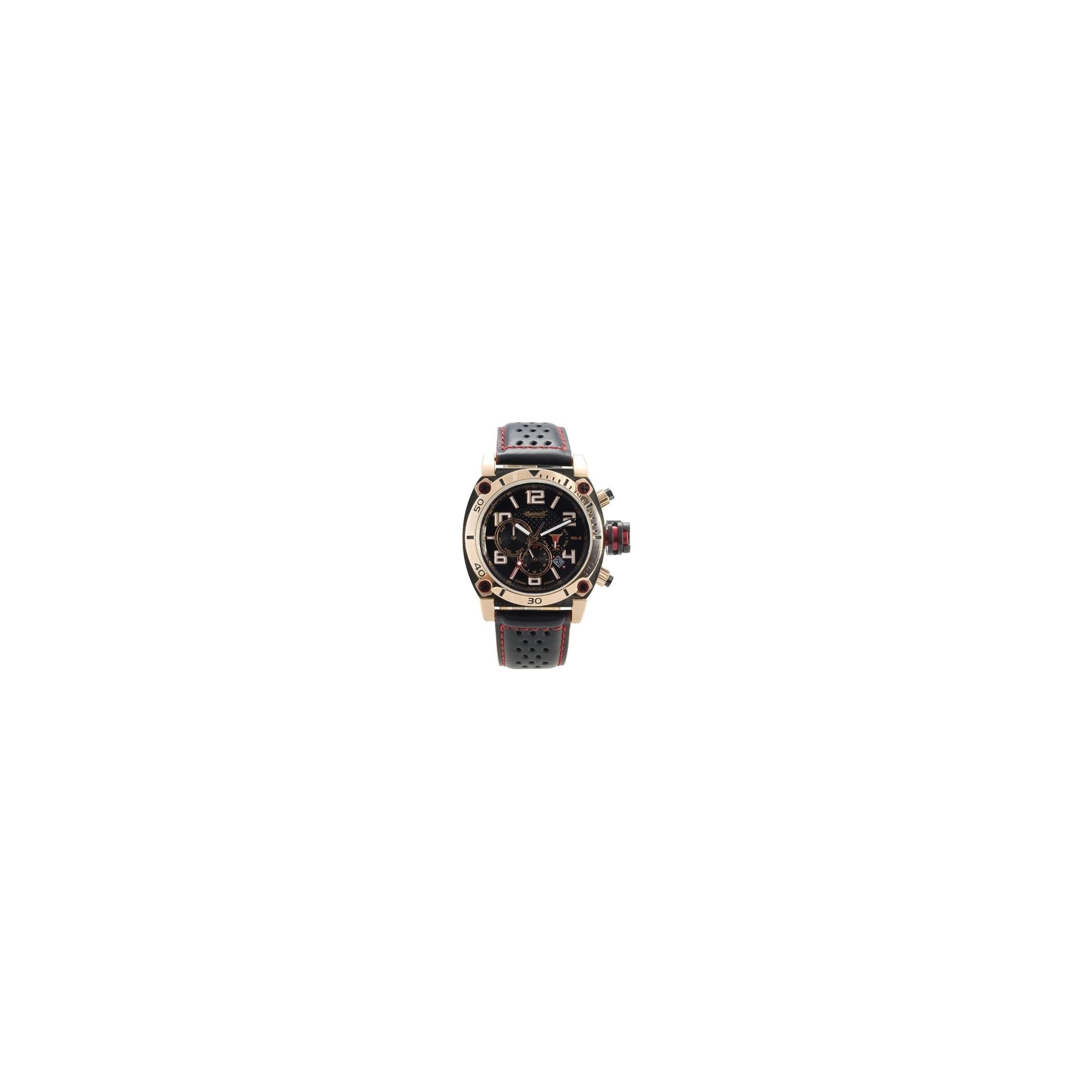 Ingersoll Bison No 8 Strap Watch IN2806RBK at Tesco Direct