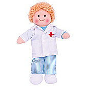 Bigjigs Toys 28cm Doll BJD010 Doctor Tommy