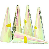Party Poppers Holographic Iridescent Cone Shape (10pk)