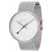 Mondaine Gents Giant Silver Dial Watch A6603032816SBM