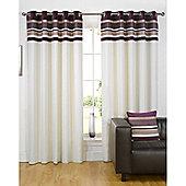 Dreams n Drapes Kendal Plum 90x90 Eyelet Lined Eyelet Curtains