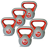 Body Power 12-20kg Vinyl Kettlebells Set of 5