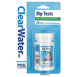 CLEARWATER 25 TEST STRIPS ON BLISTER CARD