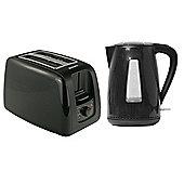 Brabantia BQPK06 Black Breakfast Kettle and 2 Slice Toaster Set