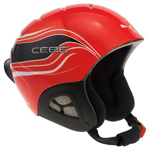 Cebe Pluma Junior Ski Helmet Basics Red Racing 52-54cm