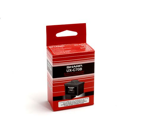Sharp UX-C70B Ink Cartridge - Black