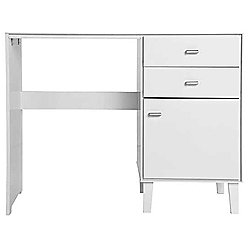 Angle - Storage Dressing Table / Computer Desk - White