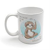 Scissor Hands Sloth Coffee Mug