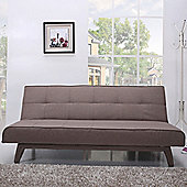 Leader Lifestyle Johansson 3 Seater Sofa Clic Clac Bed - Fabric-Autumn Brown