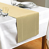 Hem Stitch Table Runner in Cream