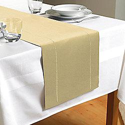 Hem Stitch Table Runner in Cream