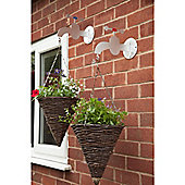 Made O'Metal Traditional Taps Hanging Basket Bracket