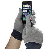 Trendz Touchscreen Gloves Grey with Ink Cuff