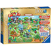 Ravensburger  WHAT IF? Open Day in the Garden, 1000 Piece Puzzle