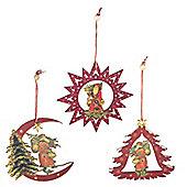 Set Of Three Traditional Christmas Tree Decorations - DA0167