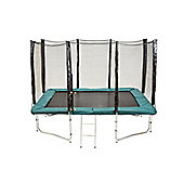 Up and About Rectangular 7x10ft Air Pro Trampoline Package with Free Ladder, Weather Cover and Building Tool