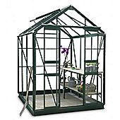 Simplicity Stafford 5x6 Green Greenhouse Starter Package with Toughened glass
