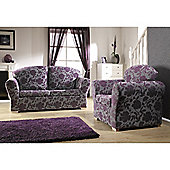 Yeovil Sofabed - Aubergine Scroll