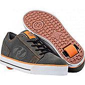 Heelys Plush Grey/Orange/White Heely Shoe - Grey
