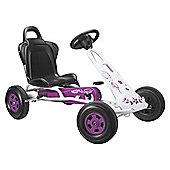 Tourer T-1 Go Kart, Pink & White