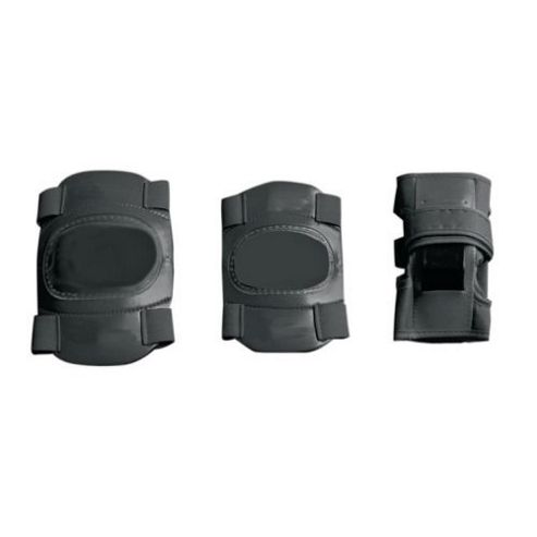 Elbow, Wrist and Knee Pad Set in Black