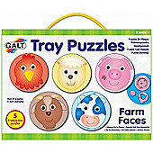 Galt Toys Tray Puzzles (Farm Faces)