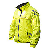 Visijax - Commuter LED Jacket with turn signals - Hi Vis Yellow - XXL - Yellow
