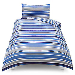 Tesco Kids Basics Stripe Single Duvet Set