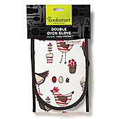 Cooksmart Chicken Design Double Oven Glove