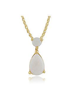 Gemondo 9ct Yellow Gold 0.30ct Opal Pear Pendant on Chain