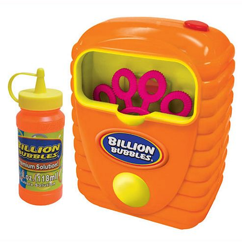 Billion Bubbles Kids Bubble Generator - Orange