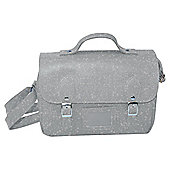 Satchel Insulated Lunch Bag, Silver